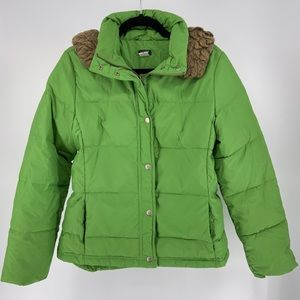J. Crew down coat with hood size small GUC